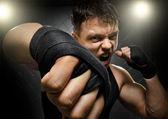 Fighter,cuff  fist — Stockfoto