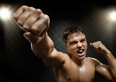 Fighter, cuff  fist — Stock Photo