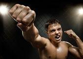 Fighter, cuff  fist — Foto Stock