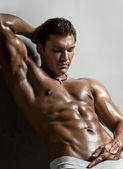 Muscular sexy guy — Stock Photo