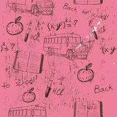 Trama semless sulla scuola. — Vettoriale Stock