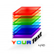 Multicolor abstract logo - Stockvectorbeeld