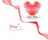 Corazón rosa abstracta simbol. — Vector de stock