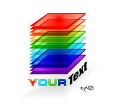 Multicolor abstract logo — Stock Vector