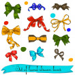 Set of vintage bows. — Stock Vector #12904946