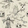 Vector de stock : Halloween seamless texture