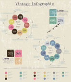 Retro infographic with ink arrows. — Vector de stock