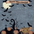 Invitation Halloween poster with cute monster. — Stockvectorbeeld