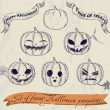 Royalty-Free Stock Imagen vectorial: Halloween pumpkins set.