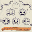 Royalty-Free Stock Vectorafbeeldingen: Halloween pumpkins set.