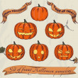 Halloween pumpkins set. — Stockvectorbeeld