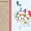 Card with plumeria. — Stock vektor