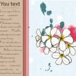 Card with plumeria. — 图库矢量图片 #13766073