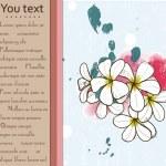 Card with plumeria. — Stock Vector