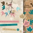 Scrapbooking set about autumn. — Imagen vectorial