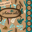 Autumn sale poster with seamless texture. — Stockvektor