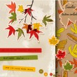 Scrapbooking set about autumn — Imagen vectorial