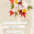 Card with autumn leaves — Imagen vectorial