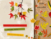 Scrapbooking set about autumn — Stock Vector
