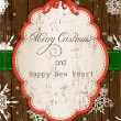 Vintage Christmas card. — Stock Vector