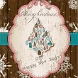 Vintage Christmas card pastel colors. - Stock Vector