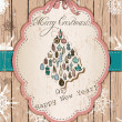 Stock Vector: Vintage Christmas card pastel colors.