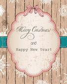 Vintage Christmas card. — Stock Vector