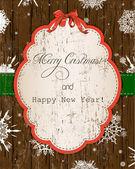урожай рождественская открытка. — Cтоковый вектор