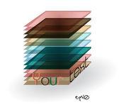 Multicolor abstract logo rectangle. — Stock Vector
