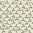 Seamless texture with mistletoe and bows. — Stockvektor