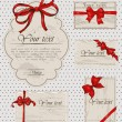 Set of vintage gift bows. - Stock Vector