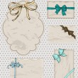 Set of vintage gift bows. — Stock Vector #19331911