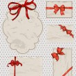Royalty-Free Stock Vector Image: Set of vintage gift bows.