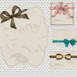 Set of vintage gift bows. — Grafika wektorowa