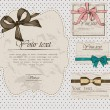 Set of vintage gift bows. — Image vectorielle
