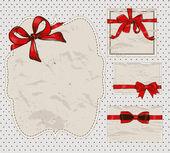 Set di fiocchi regalo vintage. — Vettoriale Stock
