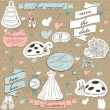 Vintage wedding set. - Stock Vector