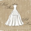 Vintage poster with beautiful wedding dress. — Image vectorielle