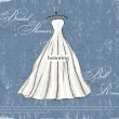 Vintage poster with beautiful wedding dress. — Stok Vektör