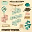 Vintage website design elements set. — Stock Vector