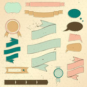 Strona rocznika projektowania elementów zestaw. — Wektor stockowy