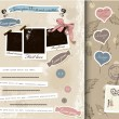 Vintage scrapbook elements set. — Vektorgrafik