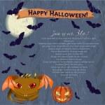 Invitation Halloween poster. — Stock Vector