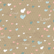 Royalty-Free Stock Vector Image: Vintage seamless texture with hearts.
