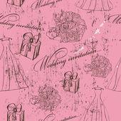 Vintage wedding seamless texture. — Stock Vector