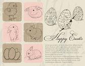 Vintage affisch om påsk. — Stockvektor