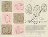 Vintage poster about Easter. — Stock Vector