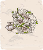 Wedding bouquet. Hand drawn illustration — Stock Vector