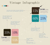 Retro infographic with ink arrows. — Stock Vector