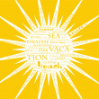 Abstract sun poster. — Stockvectorbeeld